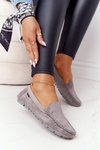 Women's Suede Loafers Grey San Marino