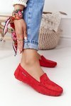 Women's Suede Loafers Red San Marino