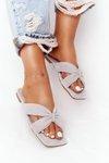 Women's Suede Slippers Grey Vanilla Sky