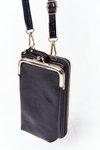 Women's Wallet  2in1 Purse With Hook Selena Black